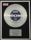 "THE MOVE  - 7"" Platinum Disc - FIRE BRIGADE"